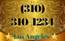 310 vanity Easy phone number (310) 310-1234 Los Angeles California so special