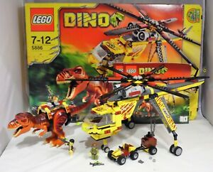 LEGO 5886 Dino T-Rex Hunter Transport Helikopter Quad komplett + BA + OVP