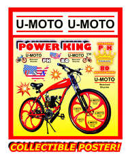 "66cc/80cc 2-STROKE MOTORIZED BIKE KIT AND 26"" BIKE DIY PROMO POSTER"