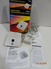 AT&T 1717 Tapeless Digital Answering Machine System w/ Time/Day Tested Open Box