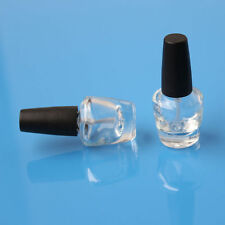 3ml Empty Nail Polish Bottle Clear Glass With Agitator Mixing Balls