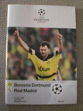 Borussia Dortmund vs. Real Madrid 1998 Programme
