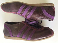 Ladies Purple Suede & Snake Skin Style Adidas Trainers. Size: UK5-EUR 38 RARE!!