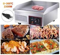 1500W Commercial Electric Countertop Griddle Flat Top Grill Stove Cooking BBQ