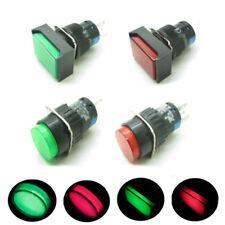 16mm Push Button Switch Round Rectangular With LED Indicator Light 12V 24V 220V