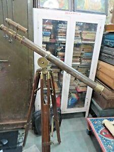 Antique TELESCOPE Marine Navy Army Memorabilia Broad Arrow Thos J.Evan London