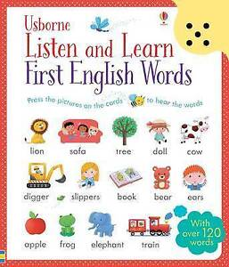 Listen and Learn First English Words Sound Book with 120+ Words (Paperback)