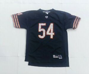 Brian urlacher Authentic Reebok Youth CHICAGO Bears Jersey Size Xl 18-20