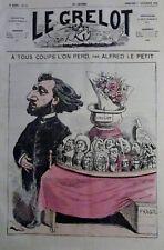 CARICATURE POLITIQUE GAMBETTA LE GROS LOT JOURNAL SATIRIQUE LE GRELOT de 1872