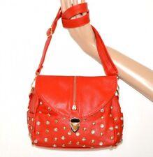 SAC rouge or emme faux cuir cristaux  punaises à main fourre-tout bag сумка A42