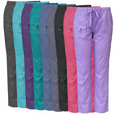 Medgear Womens Stretch Scrubs Pants, Utility Style with 7 Pockets and Loop 2043