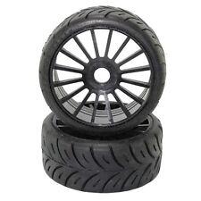 SP-R5 - Coppia gomme Rally GT 1/8 alta qualità dure cerchio a razze nero