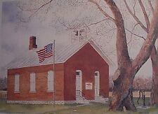 Little Red Schoolhouse, Findlay, Ohio by Marge Brandt, LE, 10x14, old brick