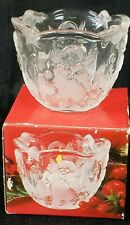 Mikasa christmas Holiday Lights Frosted Angel Votive Tea Light Candle Holder