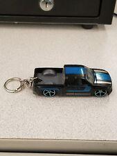 2017 Hot Wheels Kmart exclusive Black and Blue Chevy Silverado Custom Key CHAIN