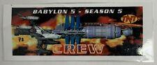 "Babylon 5 Tnt Season 5 Space Ship Laminated Crew Card 11"" x 4.25"""