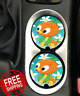 Disney ORANGE BIRD Car Coasters Disney Inspired Car Coaster Cup Holders