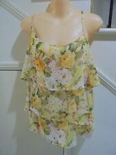 EMERGE LABEL NWOT SIZE 16 LEMON LAYERED LINED SHOESTRING TOP