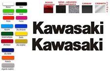 ADESIVI LOGO SCRITTA KAWASAKI   (COPPIA)