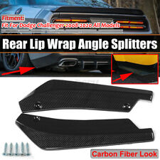 For Dodge Challenger Carbon Rear Bumper Lip Diffuser Splitter Canard Protector