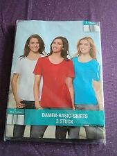 Blue Motion, Damen-Shirts, 3-er Set, weiß/blau/rot, Gr. 36-38, Baumw., Elasthan