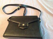 Rare Vintage  Christian Dior Black Leather  Shoulder Bag - GVC