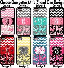 For iPhone 4 4s Butterfly Chevron Group 1 Personalized Monogram Phone Case Cover
