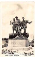 B91/ East Tawas Michigan Mi Real Photo RPPC Postcard c30s Lumberman's Memorial