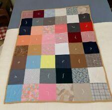 Handmade Patchwork Quilt Lap Size or Toddler Bed