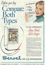 SERVEL GAS REFRIGERATOR 1950 VINTAGE MAGAZINE AD  INV#334