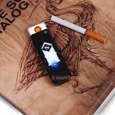 Black 5v Windproof Flameless Electronic USB Rechargeable Cigarette Cigar Lighter