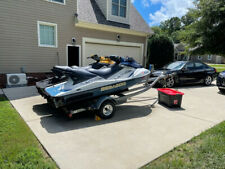 (2) Two Sea-Doo 3 seater Jet skis with Double trailer Sea Doo Supercharged Fast