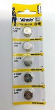 5 pieces of Vinnic L1560 1.5V Alkaline battery, L9, GPPX625A carded new in stock