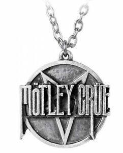 Alchemy England - Motley Crue Pentagram Disc Pendant, Metal Rocker Necklace Goth