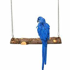 Parakeet Natural Wooden Cage Parrot Toys Hanging Perch Hammock Bird Swing