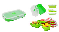 Food Storage Box With 350ml /450ml / 800ml Capacity Portable Foldable Lunch Box