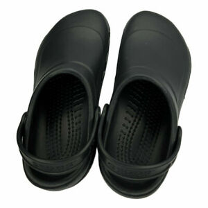 NWT CROCS AT WORK BISTRO MEN'S WOMEN'S BLACK LIGHTWEIGHT SLIP ON CLOGS SHOES