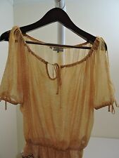 GUESS 100% Polyester Sheer Delicate Scoop Neck Blouse - Size - Extra Small