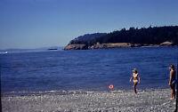 Vintage Photo Slide 1977 Women Bikini Beach Sand