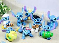cute lilo&stitch Playing guitar PVC figure set of 8pcs toy action Figurine
