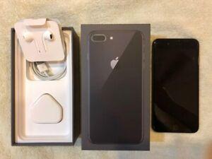 Apple iPhone 8 Plus 256GB Space Gray USA Unlocked(GSM+CDMA) Full Set Free Ship