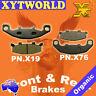 Front Rear Brake Pads Kawasaki GPX250 GPX 250 ZX250 EX