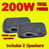 BOSS AUDIO 3-WAY BOX TYPE ENCLOSED CAR VAN REAR DECK SHELF SPEAKERS 200W TOTAL