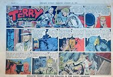 Terry and the Pirates by Wunder - large half-page Sunday comic - August 15, 1954