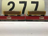 Atlas Ho Scale SLSF Frisco GSC Pulpwood Flat #4310 & #4304 Lot of Two RTR New