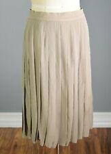 ESCADA Margaretha Ley Vintage 1980's 100% Silk Pleated Skirt Size EU 42