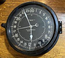 Vintage Chelsea Boston Ships Clock