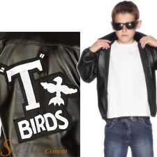 Boys Official Grease T-Birds T Bird 50s Jacket Fancy Dress Costume Danny Outfit