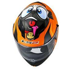LS2 Helmets -FF320-Stream-Doggie Dog Orange - Dual Visor Without Air Pump Helmet