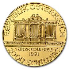 1991 1 oz Gold Austrian Philharmonic Coin - Brilliant Uncirculated - SKU #74663